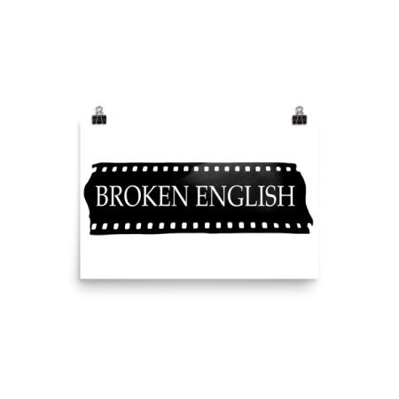 Broken English Large logo ad