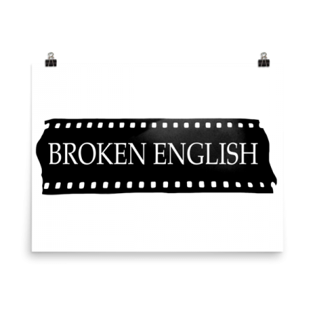 Broken English Large logo poster