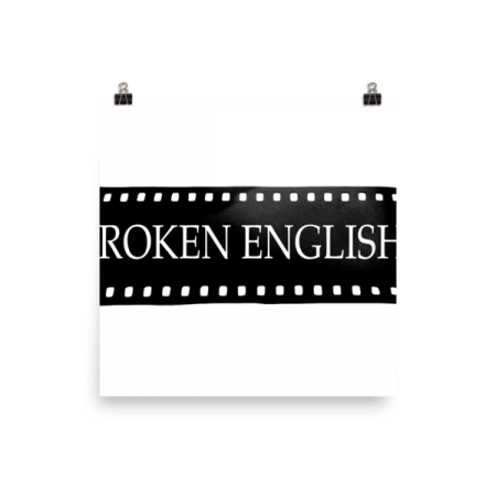 Broken English Large logo wall poster