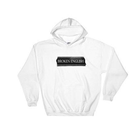 Classic Broken English White hoodie