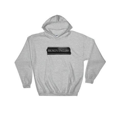 Classic Broken English Grey hoodie