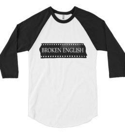 Classic Broken English baseball t-shirt